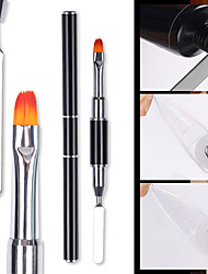 cheap -Double-Ended Nail Brush for Nail Art Design Manicuring Gel Brush Gradient Nails Brushes For Gel Nail Polish Painting Drawing Tools