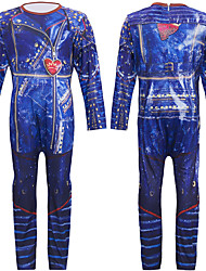 cheap -Mal Zentai Suits Cosplay Costume Outfits Boys' Girls' Movie Cosplay Cosplay 3D Purple Blue Leotard / Onesie Halloween Carnival Masquerade Cotton