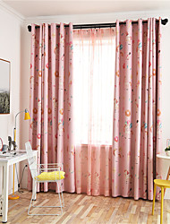 cheap -Window Curtain Window Treatments Pink Cartoon Unicorn 1 Panel Room Darkening Grommet Rod Pocket Solid For Living Room Bed Room