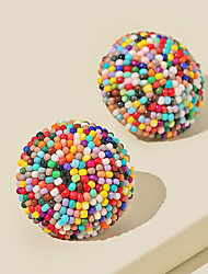 cheap -Women's Stud Earrings 3D Tire Vintage Modern Cute Sweet Earrings Jewelry Rainbow For Party Gift Daily Prom Club 1 Pair