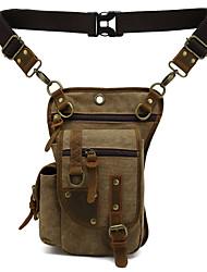 cheap -aoge new outdoor riding leg bag men's canvas fashion casual one-shoulder messenger bag korean version of the trendy waist bag