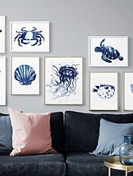cheap -Wall Art Canvas Prints Painting Artwork Picture Animal Blue Home Decoration Dcor Rolled Canvas No Frame Unframed Unstretched
