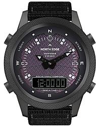 cheap -NORTH EDGE Men's Digital Watch Analog - Digital Solar Energy Casual LED Light Alarm Clock Compass / One Year