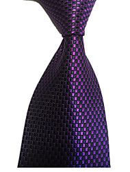 cheap -Men's Party / Work / Wedding Necktie - Plaid Formal Style / Holiday / Fashion