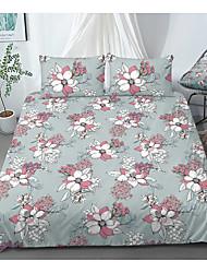 cheap -Print Home Bedding Duvet Cover Sets Soft Microfiber For Kids Teens Adults Bedroom Floral/Flower 1 Duvet Cover + 1/2 Pillowcase Shams