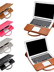 cheap -13.3 Inch Portable PU Leather Laptop Sleeve for MacBook Shock Proof Detachable Notebook Cover