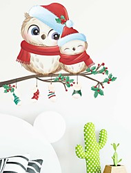 cheap -Christmas Cartoon Snowman Socks Wall Stickers Living Room Kids Room & kindergarten Removable Pre-pasted PVC Home Decoration Wall Decal 1pc