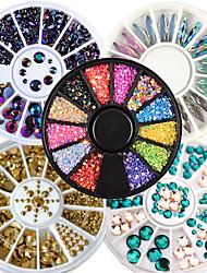 cheap -5Pcs Designed Transparent Diamante Rhinestone Crystal Nail Art Salon Stickers Decal Tips Glitters Diy Decorations