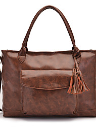 cheap -Women's Bags Tote Satchel Casual Daily dark brown Gold / Brown