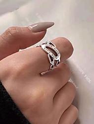 cheap -Ring Retro Silver Copper Letter Vintage European 1pc / Women's / Open Ring