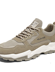 cheap -Men's Trainers Athletic Shoes Sporty Daily Faux Leather Gray Brown Fall Winter
