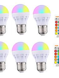 cheap -6pcs 4pcs E27 Smart Control Lamp Led RGBW Light Dimmable 3W Colorful Changing Bulb Led Light Bulb RGBW White Home Decor