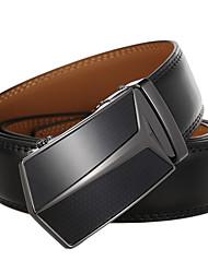 cheap -Men's Waist Belt Party Daily Gold Black Belt Pure Color