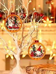 cheap -Christmas Tree Pendant Decorations Wooden Forest Old Man Pendant Christmas Tree Wooden Pendant