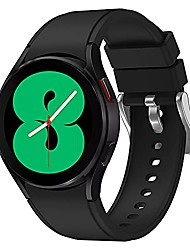 cheap -bands compatible with samsung galaxy watch 4 band, adjustable silicone sport watch band replacement strap for galaxy watch4 classic 46mm/classic 42mm, galaxy 4 40mm/44mm men women (black)