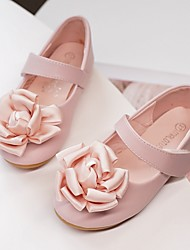 cheap -Girls' Flats Flower Girl Shoes Microfiber Wedding Casual / Daily Dress Shoes Toddler(9m-4ys) Little Kids(4-7ys) Wedding Party Party & Evening Flower Pink Ivory Fall Spring