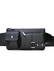 cheap -Men's Bags PU Leather Sling Shoulder Bag Zipper Vintage Going out Outdoor Retro Black Brown