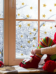cheap -Christmas Children's Room Decoration Sticker Waterproof Flashing Star Tree Self-adhesive DIY Wall Sticker