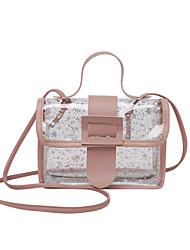 cheap -Women's Bags PU Leather Crossbody Bag Print Vintage Daily Office & Career Handbags Yellow Blushing Pink Sky Blue Black