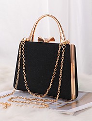 cheap -Women's Bags Polyester Evening Bag Crystals Chain Plain Party / Evening Retro Evening Bag Chain Bag Champagne Silver Black