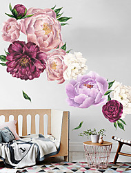 cheap -Floral Plants Wall Stickers Bedroom Living Room Removable Pre-pasted PVC Home Decoration Wall Decal 1pc