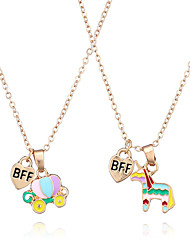 cheap -Pendant Necklace Women's Cartoon AAA Cubic Zirconia Rose Gold Plated Skull pumpkin carriage Classic Cute Rose Gold Rose Gold 2 41 cm Necklace Jewelry 1pc for School Gift Daily Festival