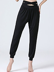 cheap -Activewear Pants Hollow-out Solid Women's Training Performance High Modal