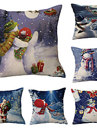 cheap -Christmas Party Double Side Cushion Cover 6PC Soft Decorative Square Throw Pillow Cover Cushion Case Pillowcase for Bedroom Livingroom Superior Quality Machine Washable Indoor Cushion for Sofa Couch Bed Chair