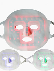 cheap -3 Led Colors SPA Therapy Light Up Face Facial Mask Silicone And Fabric Material Super Soft Rechargeable