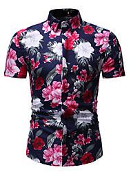 cheap -men's casual shirts summer shirt short sleeve camouflage hawaii fashion brand beach vacation camisa