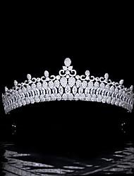 cheap -Hair Accessories High-end Luxury Bride Wedding Zircon Crown Super Flash Wedding Headdress Evening Dress Wedding Accessories