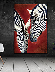 cheap -Wall Art Canvas Prints Painting Artwork Picture Animal Zebra Home Decoration Decor Rolled Canvas No Frame Unframed Unstretched
