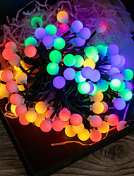 cheap -LED Solar String Lights 7m 50 LEDs 1Set Mounting Bracket 1 Set Multi Color Christmas New Year's Outdoor Solar Party 2 V