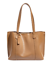 cheap -Women's Bags PU Leather Tote Zipper Vintage Shopping Daily Tote Handbags Blue Khaki Black Brown