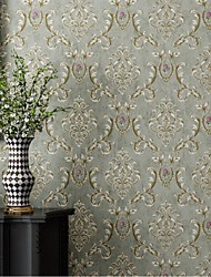 cheap -Floral Home Decoration Classic Modern Wall Covering, Non-woven fabric Material Self adhesive Wallpaper, Room Wallcovering