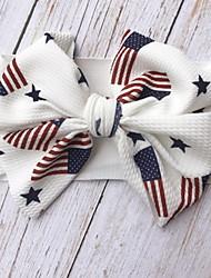 cheap -1pcs Kids Girls' Active / Sweet Daily Wear Flag Bow / Print Hair Accessories White