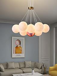 cheap -3D Printing Moon Pendant Light Nordic Modern Simple Bedroom Bar Table Island Moon Color Starry Multi Head Lights