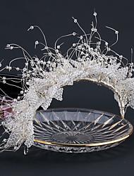 cheap -White Wedding Dress Crystal Headdress Wedding Styling Accessories Bridal Jewelry Hair Accessories Handmade Crown