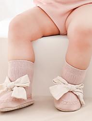 cheap -Baby Girls' Socks Blue Blushing Pink Khaki Polka Dot Patchwork Patchwork Bow Cotton Daily Wear Cute 6-12 months / Fall / Winter
