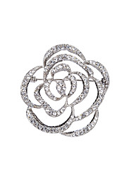 cheap -Women's Brooches Hollow Out Flower Stylish Simple Brooch Jewelry Silver Gold For Party