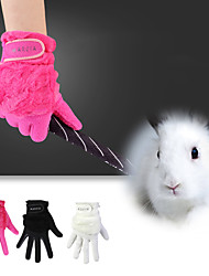cheap -Golf Glove Golf Full Finger Gloves Women's Anti-Slip UV Sun Protection Breathable Faux Suede Suede Outdoor Pink White Black / Sweat wicking