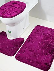 cheap -Bathroom Bath Mat Set Toilet Rugs Flannel Anti Slip Shower Carpets Home Lid Cover Room Rug Floor Mats 1Set