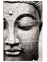 cheap -3 Panels Wall Art Canvas Prints Painting Artwork Picture Buddha Painting Home Decoration Decor Rolled Canvas No Frame Unframed Unstretched