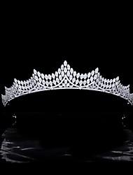 cheap -Bride Wedding Headdress Micro-inlaid Zircon Crown Wedding Headdress Wedding Dress Accessories