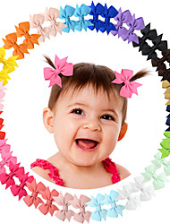 cheap -20 Pcs/set Tiny Pinwheel Hair Bows Alligator Clips for Baby Gilrs Toddlers Kids 811