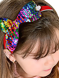 cheap -1pcs Kids Girls' Active / Sweet Daily Wear / Festival Mermaid Tail Animal Sequins Hair Accessories Blue / Blushing Pink / Dusty Rose