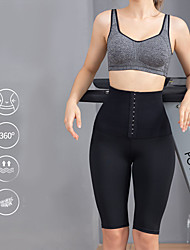 cheap -Corset Women's Thigh Slimmers Seamless Breathable Hip Pants Sport Tummy Control Basic Pure Color Hook & Eye Nylon Running Gym Yoga Spring, Fall, Winter, Summer Black 555 Black 333 White