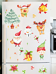 cheap -Christmas Cartoon Wall Stickers Living Room Kids Room Kindergarten Removable Pre-pasted PVC Home Decoration Wall Decal 1pc