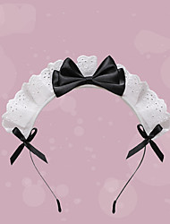 cheap -Lovely Lace Bow Maid Hair Band Lolita Headdress Hair Accessories Japanese Hand-made Cos Props Comic Show Dress Up