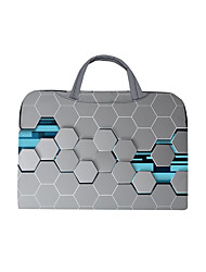 cheap -Unisex Bags Oxford Cloth Polyester Laptop Bag Zipper Geometric Daily Office & Career 3D Print Purple Blushing Pink Gray